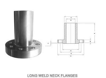 SS 316L Long Weld Neck Flanges