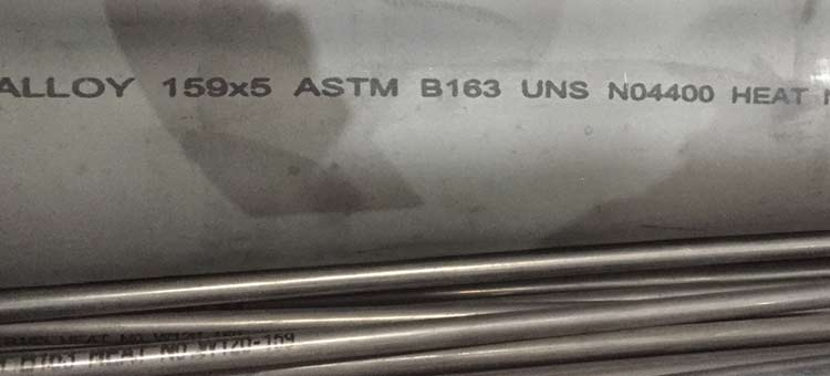 ASTM B725 UNS N04400 Monel 400 Pipe