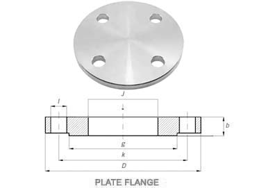 UNS S31603 Stainless Steel Plate Flanges