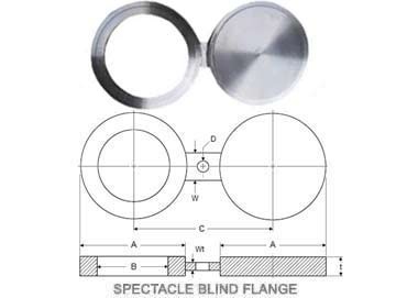 316L Stainless Steel 1.4404 Spectacle Blind Flange
